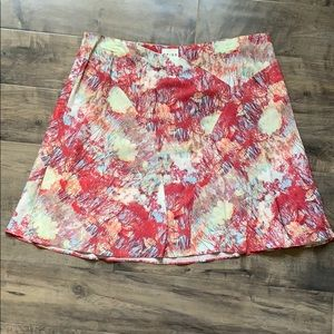 REISS Siusi Watercolor Abstract Print Skirt 12